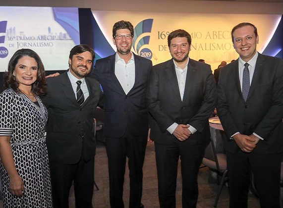Convidados do mercado imobiliário e financeiro durante o  16º Prêmio Abecip de Jornalismo