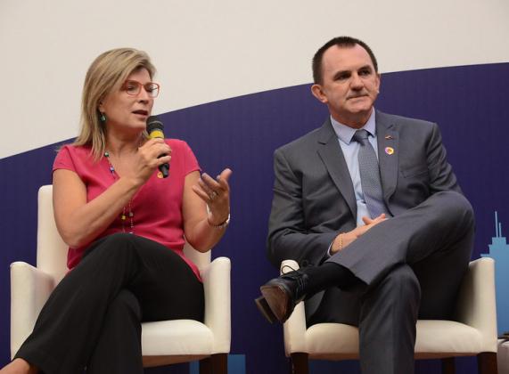 A presidente da Abecip, Cristiane Portella, participa do evento  'Crédito Imobiliário: juros baixos, mais negócios?', realizado pela CBIC/SECOVI. (Foto: Calão Jorge)